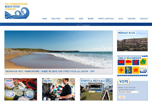 The Pembrokeshire Beach Food Company Website